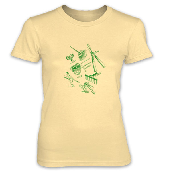 Garden Tools MS Lineart Women's T-Shirt SPRING YELLOW