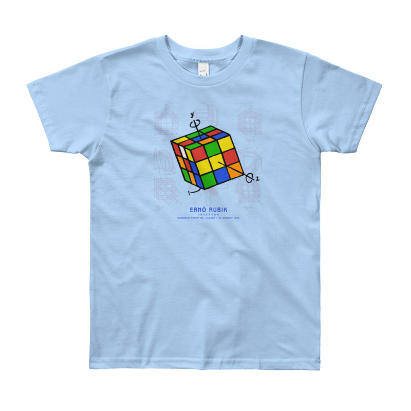 Magic Cube Youth T-Shirt 8-12 yrs BABY BLUE