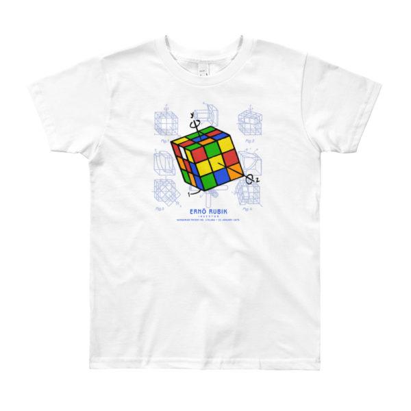Magic Cube Youth T-Shirt 8-12 yrs WHITE
