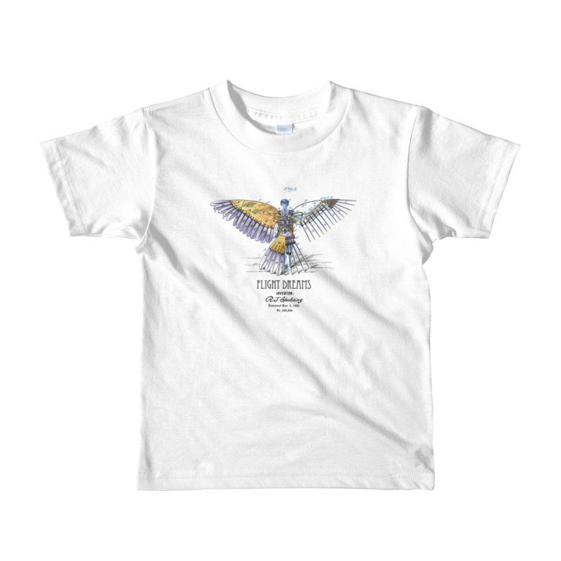 Flight Dreams Youth T-Shirt 2-6 yrs WHITE