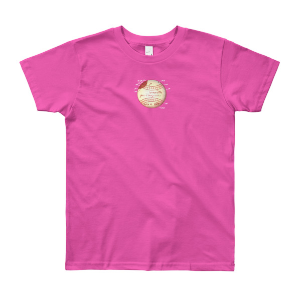 Baseball Youth T-Shirt (8-12 yrs) FUSCHIA