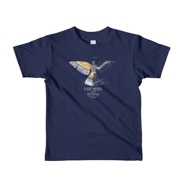 Flight Dreams Youth T-Shirt 2-6 yrs NAVY