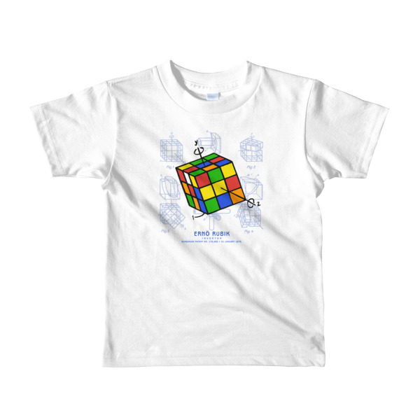 Magic Cube Youth T-Shirt 2-6 yrs WHITE