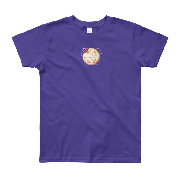 Baseball Youth T-Shirt (8-12 yrs) PURPLE