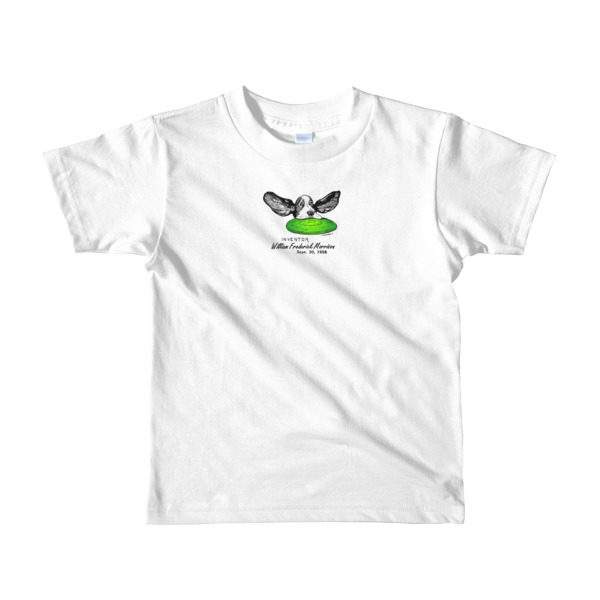 Flying Disc Youth T-Shirt 2-6 yrs WHITE
