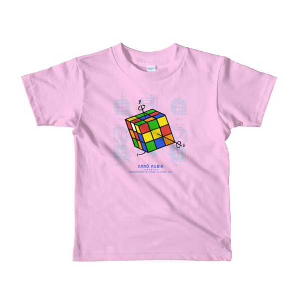 Magic Cube Youth T-Shirt 2-6 yrs PINK