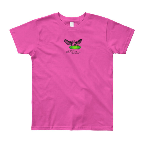 Flying Disc Youth T-Shirt 8-12 yrs FUSCHIA