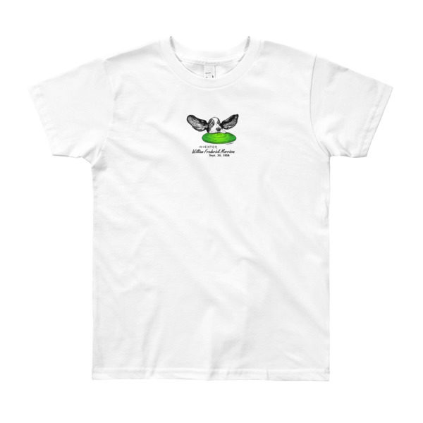 Flying Disc Youth T-Shirt 8-12 yrs WHITE