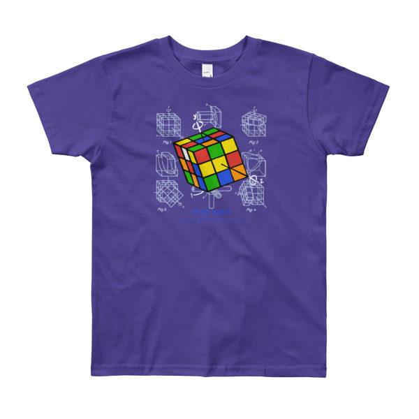 Magic Cube Youth T-Shirt 8-12 yrs PURPLE