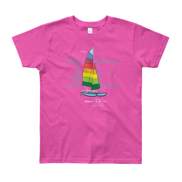 Hobie Cat Youth T-Shirt 8-12 yrs FUSCHIA