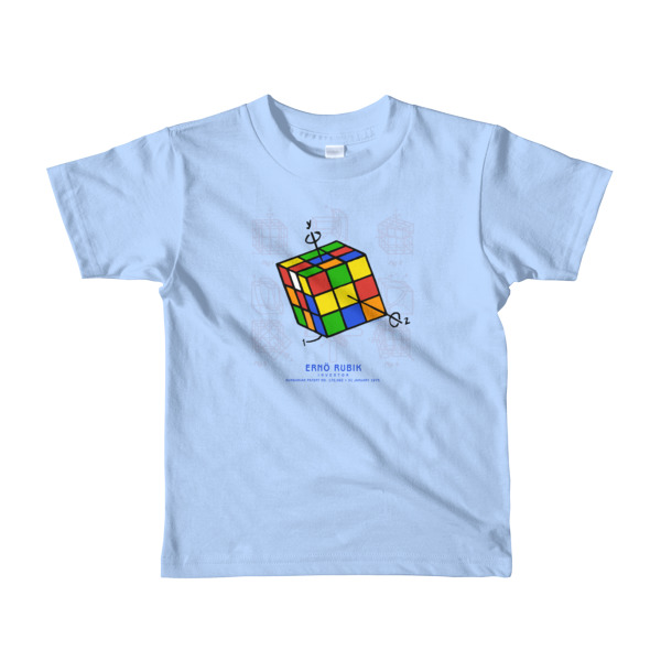Magic Cube Youth T-Shirt 2-6 yrs BABY BLUE