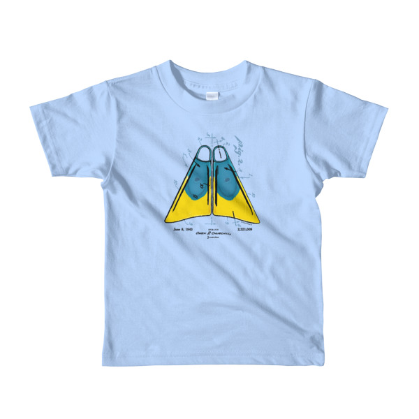 Churchill Fins Youth T-Shirt 2-6 yrs BABY BLUE