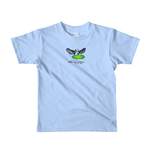 Flying Disc Youth T-Shirt 2-6 yrs BABY BLUE