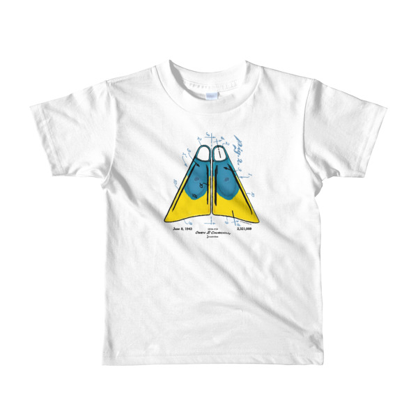 Churchill Fins Youth T-Shirt 2-6 yrs WHITE