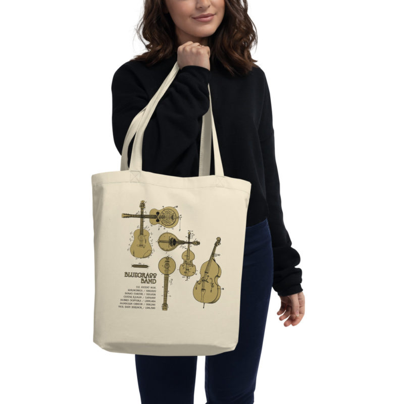 Bluegrass Band Patents Tote in action Oyster