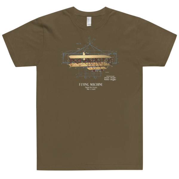 Flying Machine Patent T-Shirt USA ARMY