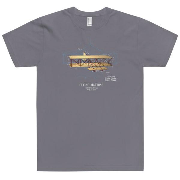 Flying Machine Patent T-Shirt USA SLATE