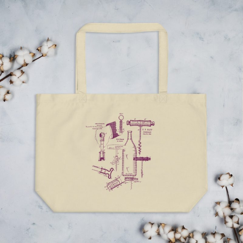 Corkscrew MS Lineart Tote Large Oyster