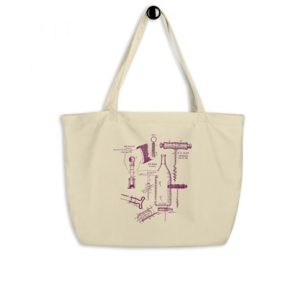 Corkscrew MS Lineart Tote Large Oyster hanging