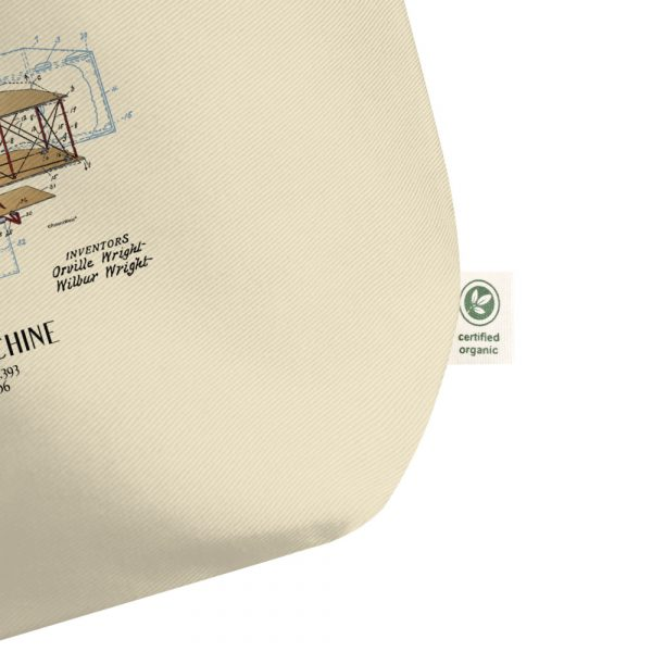 Flying Machine Patent Tote—Large Oyster detail