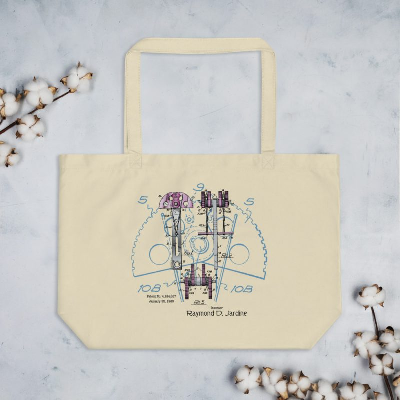 Jardine Cam Patent Tote Large Oyster