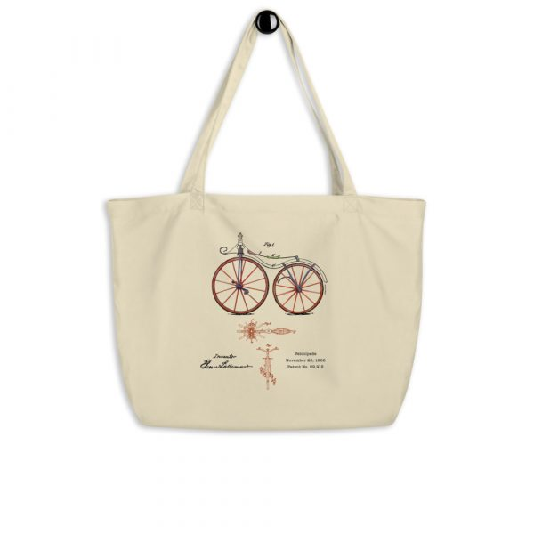 Velocipede Patent Tote Large Oyster hanging