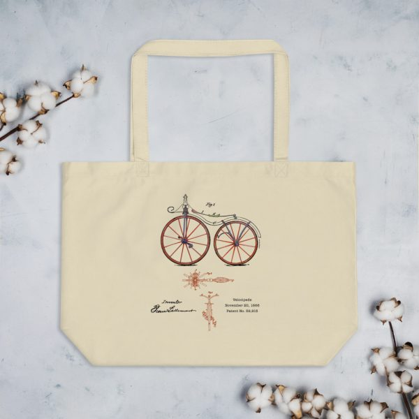 Velocipede Patent Tote Large Oyster