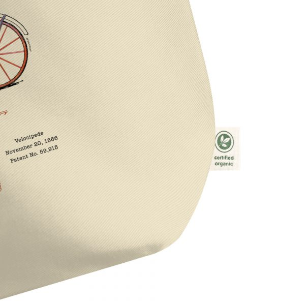 Velocipede Patent Tote Large Oyster detail