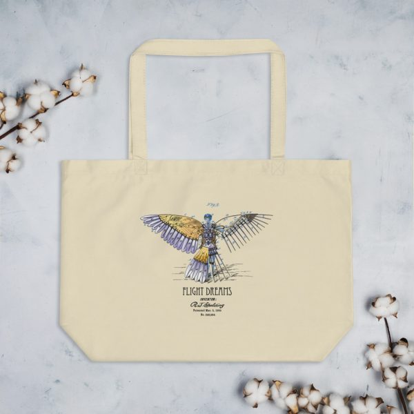 Flight Dreams Patent Tote—Large Oyster