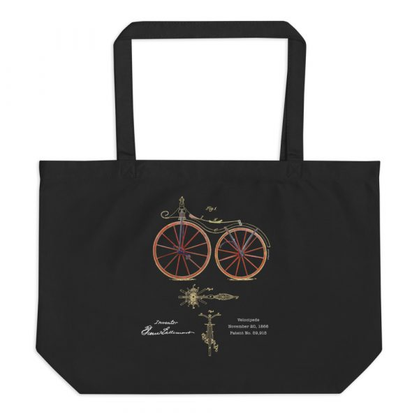 Velocipede Patent Tote Large Black