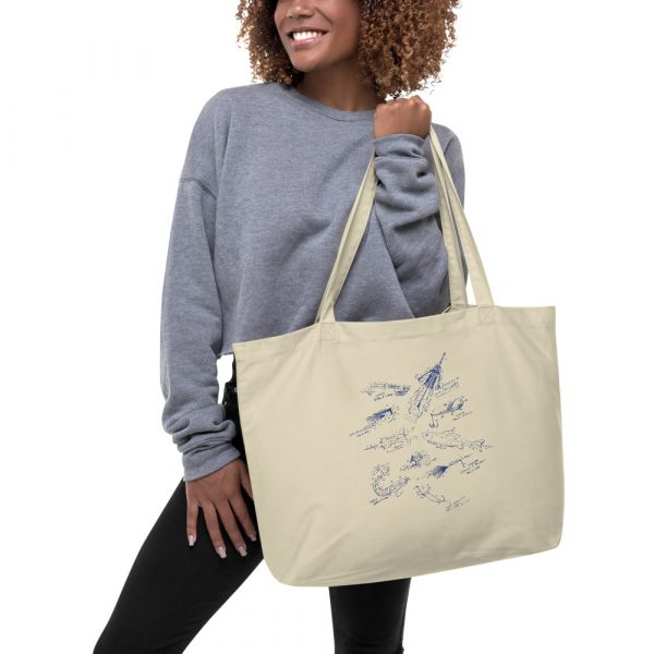 Lures MS-Lineart Tote Large Oyster