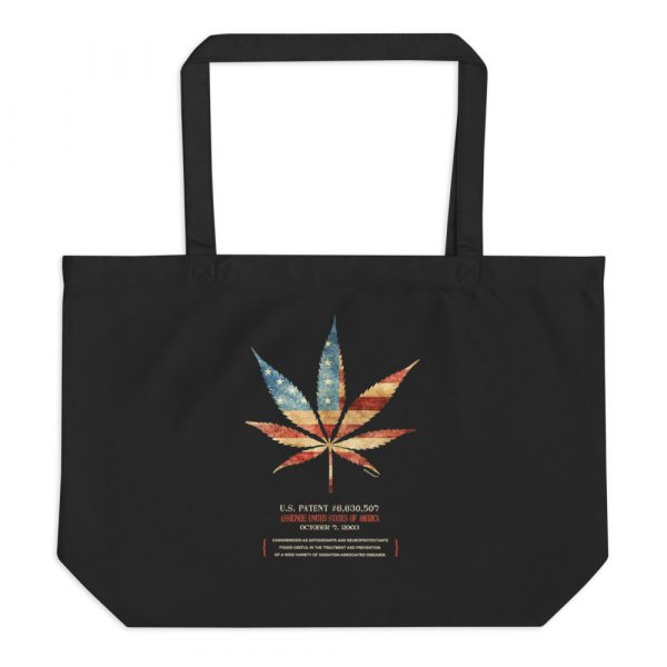 Cannabis 507 Patent Tote Large Black