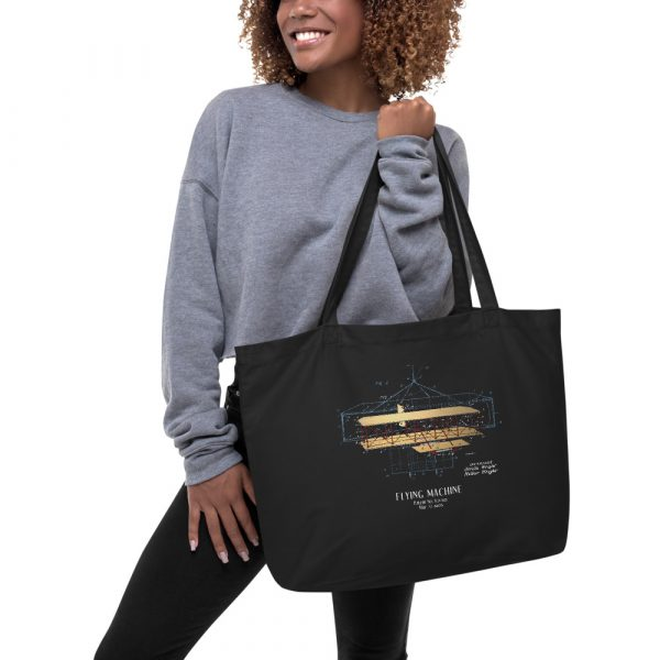 Flying Machine Patent Tote—Large in action