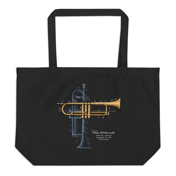 Trumpet Solo Patent Tote—Large