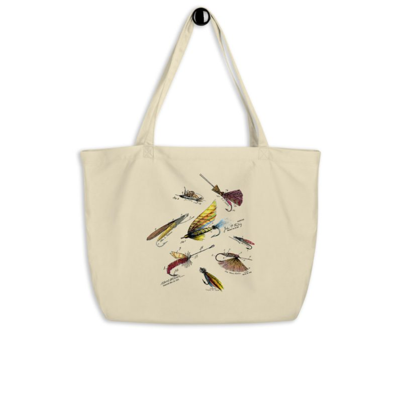 Fly Fishing Flies MS|Color Patents Tote Large Oyster hanging