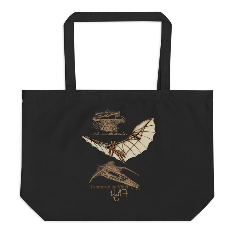 da Vinci Flight Tote—Large Black