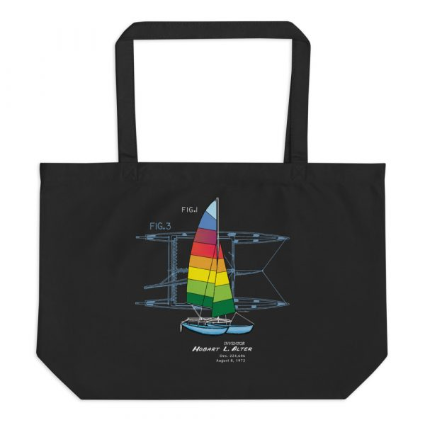 Hobie Cat Patent Tote—Large Black