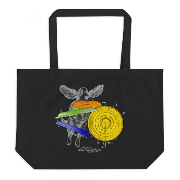 Flying Disc Patent Tote Large Black