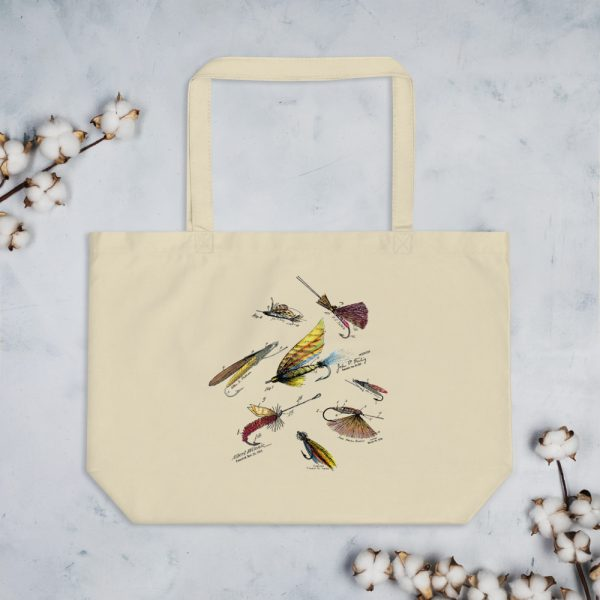 Fly Fishing Flies MS|Color Patents Tote Large Oyster