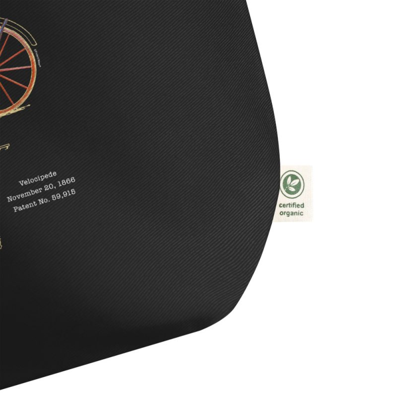 Velocipede Patent Tote Large Black detail