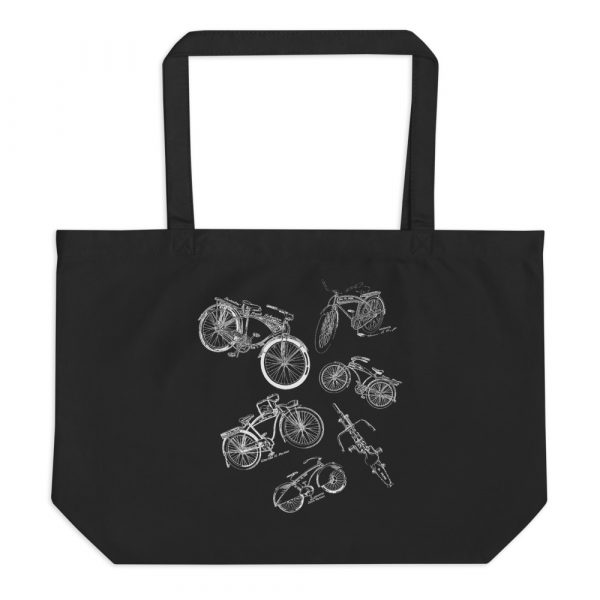 Bicycles MS|Lineart Tote—Large Black