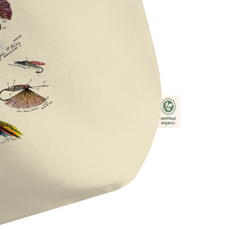 Fly Fishing Flies MS|Color Patents Tote Large Oyster detail