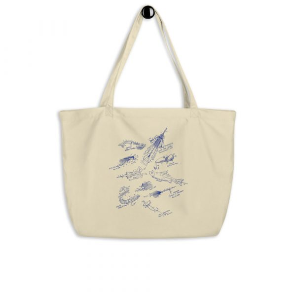 Lures MS-Lineart Tote Large Oyster hanging