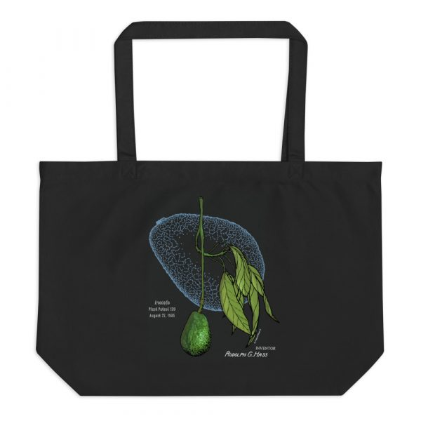 Avocado Patent Tote Large Black