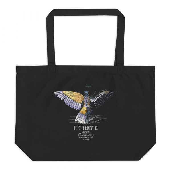Flight Dreams Patent Tote—Large Black