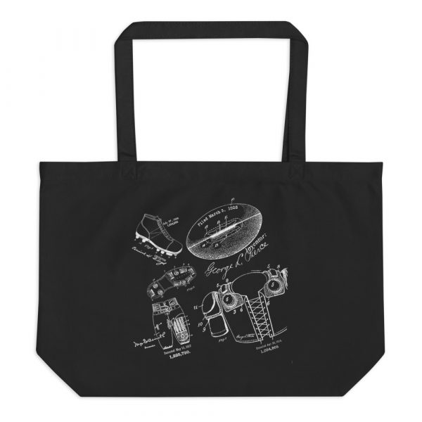 Football MS-Lineart Tote Large Black