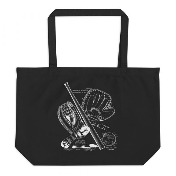 Baseball MS-Lineart Tote Large Black