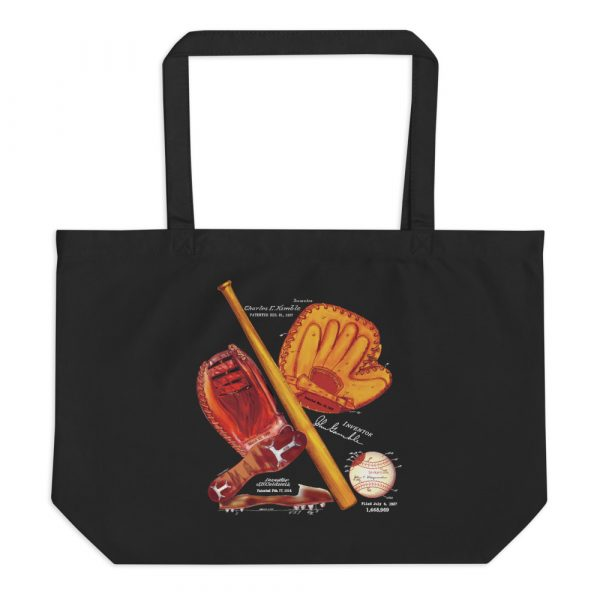 Baseball MS-Color Tote Large Black