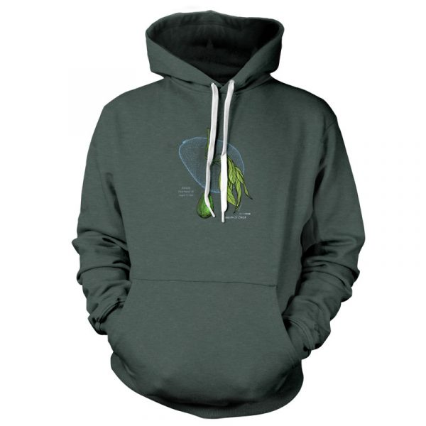 Avocado Patent Pullover Hoodie Heather Forest