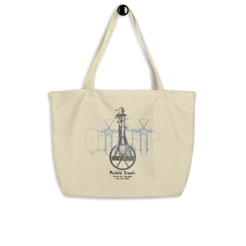 Diesel Engine Patent Tote Large Oyster hanging